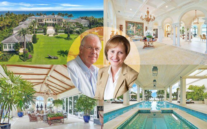 Dr. Ernst A. Langner and Nataly Langner with their Palm Beach estate (Compass, Dr. E.A. Langner-Foundation)