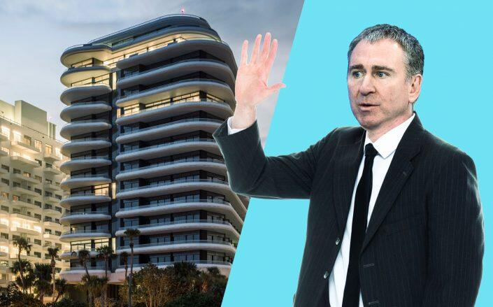 Faena House and a photo illustration of Ken Griffin (Foster + Partners, Getty, iStock)