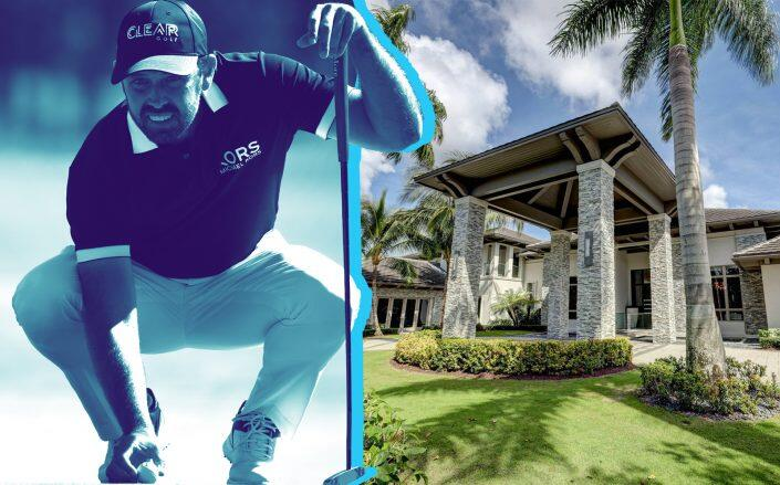 Charl A. Schwartzel and 12247 Tillinghast Circle in Palm Beach Gardens (Getty, Leibowitz Realty Group)