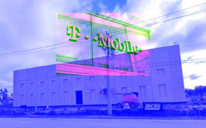 T-Mobile store logo (Getty) and 4850 Northwest 103rd Avenue in Sunrise, Florida (Google Maps)
