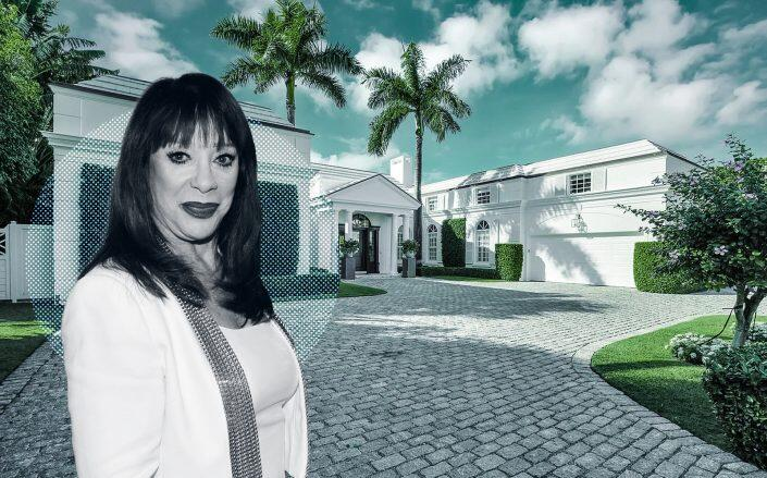 Cosmetic mogul Adrien Arpel and the Palm Beach home. (Getty, Frankel Ball Realty)