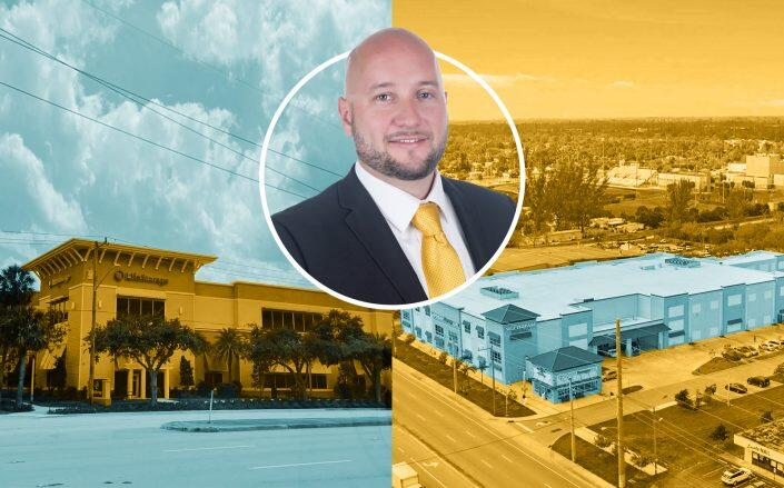 Value Store It President Carlos Diaz with the two properties (Diaz)