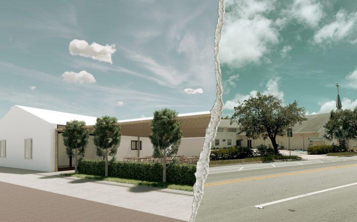 Rendering of the project and the location for the development (Google Maps, Native Realty)