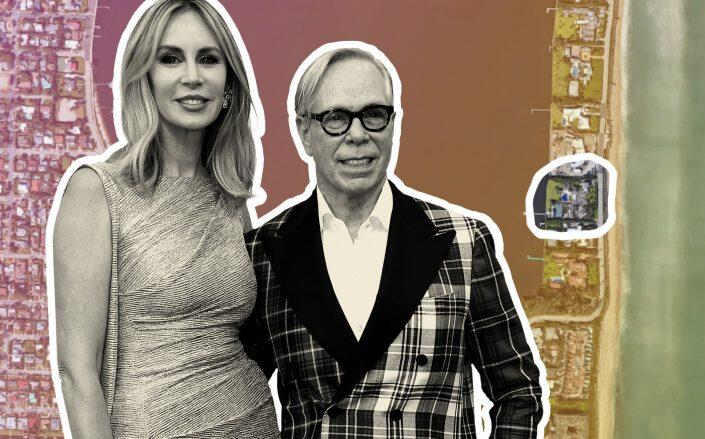 Tommy Hilfiger and his wife Dee Ocleppo Hilfiger with the Palm Beach location (Google Maps, Getty)