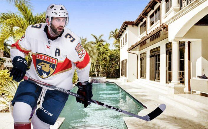 Florida Panther Keith Yandle and his Fort Lauderdale house (Getty, Compass)
