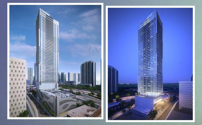 Renderings of the approved tower