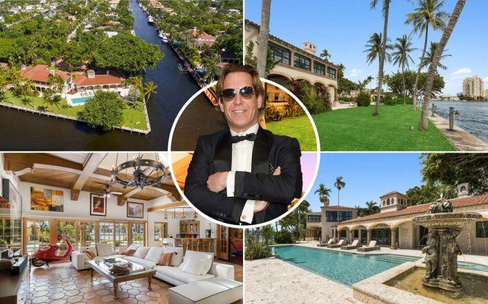 Michael Wekerle and the Fort Lauderdale property (Getty, Compass via Douglas Elliman)