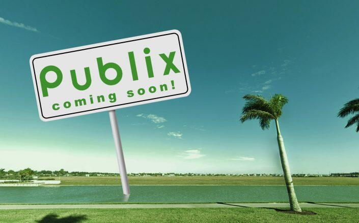 Publix at Westlake Plaza will be on the west side of Seminole-Pratt Whitney Road between Town Center Parkway and Persimmon Boulevard (Google Maps)