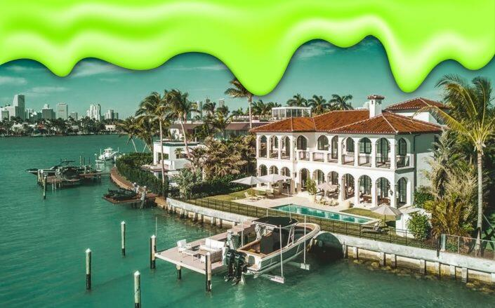 The Miami Beach property was recently purchased by a toymaker who specializes in slime (Corcoran, Getty)