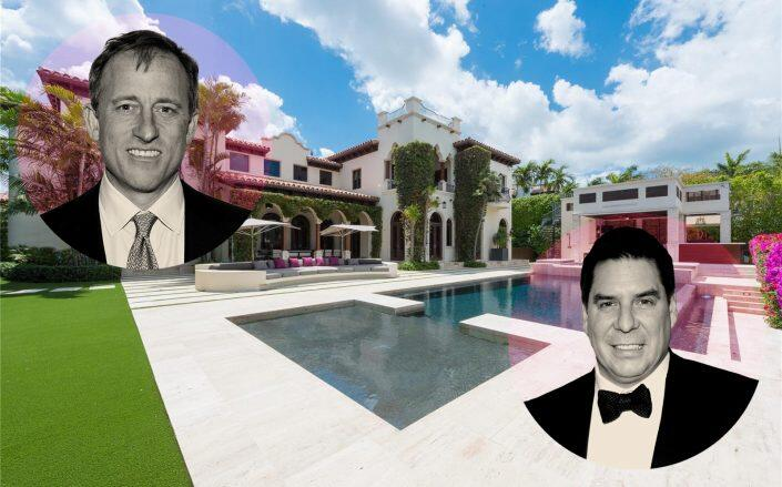 Apollo Global Management's Josh Harris and Softbank CEO Marcelo Claure with the property (Getty)
