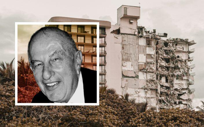 Nathan Reiber was the developer for Champlain Towers South in Surfside (Getty, Levitt-Weinstein Obituary)