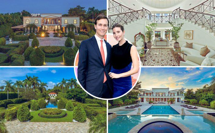 Ivanka Trump and Jared Kushner and the Indian Creek property (Google Maps, Compass via One Sotheby's International Realty)