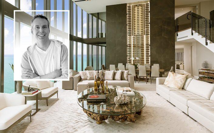 DLocal founder Sergio Fogel with the Porsche Design Tower penthouse (DLocal)