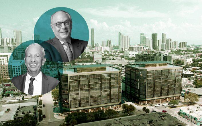 Developer David Edelstein and Robert Levine of RAL Development with the project (Getty, RAL)