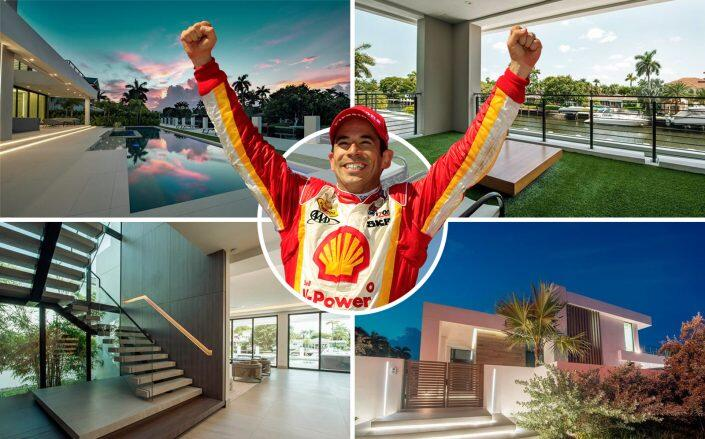 Hélio Castroneves with the house (Getty, Compass via Coast Properties of S. Florida)