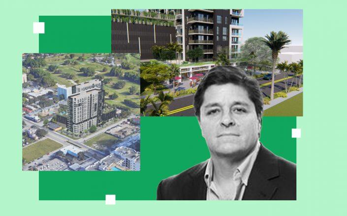 Renderings of project at 401 North Federal Highway in Hollywood and Alta Developers CEO Raimundo Onetto (Courtesy of CFE Architect, Alta)