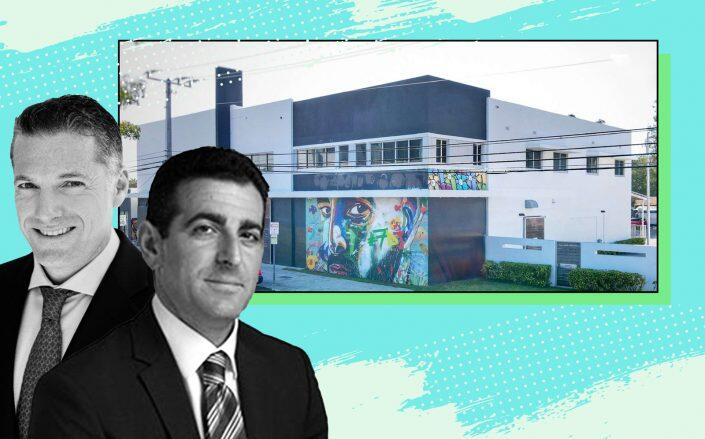 """Robert Finvarb and Abraham """"Abie"""" Hidary with the site at 2534 North Miami Avenue (Koniver Stern Group)"""