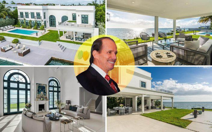 Eduardo Belmont Anderson with the Key Biscayne property (Berkshire Hathaway Home Services EWM Realty, Belmont)