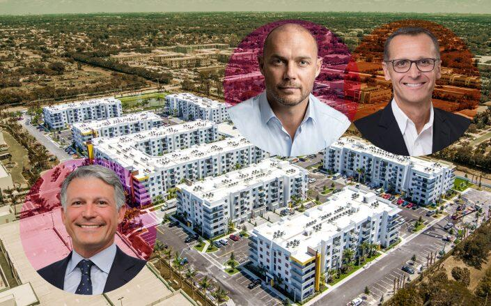 The Residences at Uptown Boca with Cortland CEO Steven DeFrancis and the sellers Alexander Rosemurgy and Rick Giles