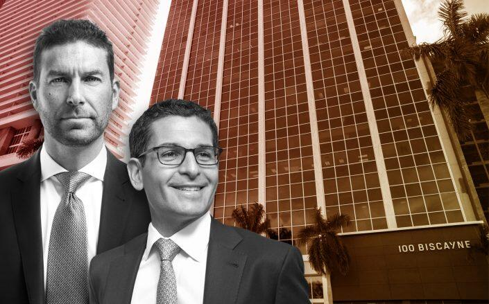 East End Capital founders and managing principals Jonathon Yormak and David Peretz with the tower (East End)