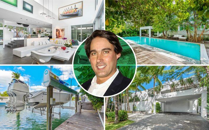 Eric Soulavy and the $9 million Key Biscayne home (Getty, Compass / Great Properties International LLC)