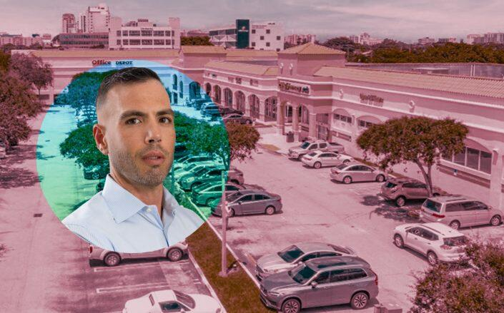 B Group Capital Management CEO Sebastian Barbagallo with Shoppes of Coral Way (LinkedIn via Barbagallo, The Olson Kristol Group of Marcus & Millichap)