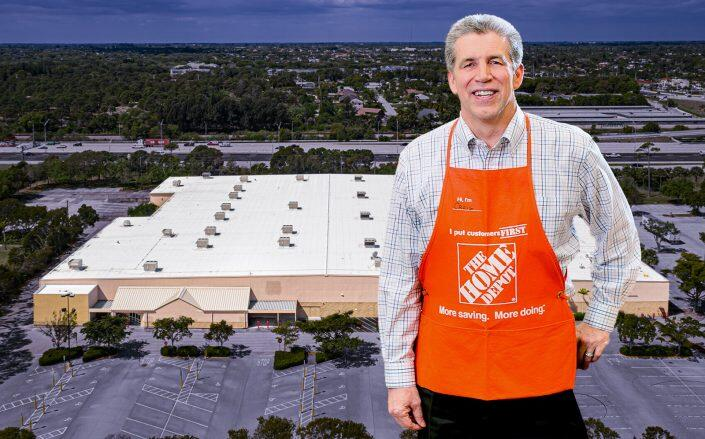 Home Depot CEO Craig Menear with the property (Home Depot, LoopNet)
