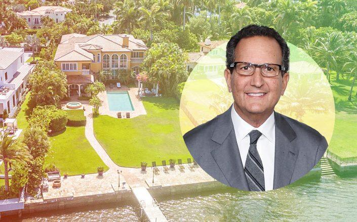 Marc Fisher and the West Palm Beach home (Getty, Douglas Elliman)