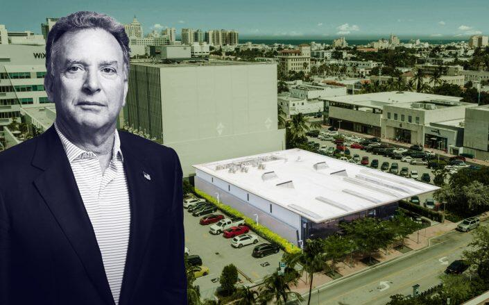 Witkoff CEO Steven Witkoff with the restaurant property (Witkoff, Crexi)