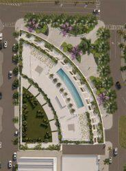 Aerial renderings of Ponce Park Residences in Coral Gables (Oppenheim Architecture)