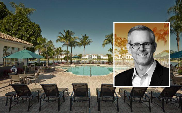 Chief Executive Officer of RREEF W. Todd Henderson with the Doral West Apartments (RREEF, Facebook via Doral West Apartments)