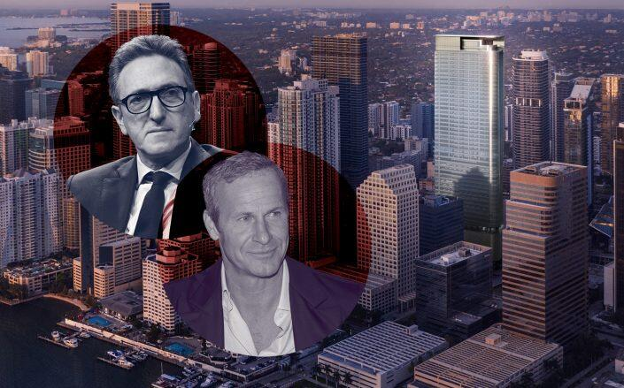 830 Brickell and the co-developers Cain's Jonathan Goldstein and Vlad Doronin (Getty, OKO Group / Cain International)