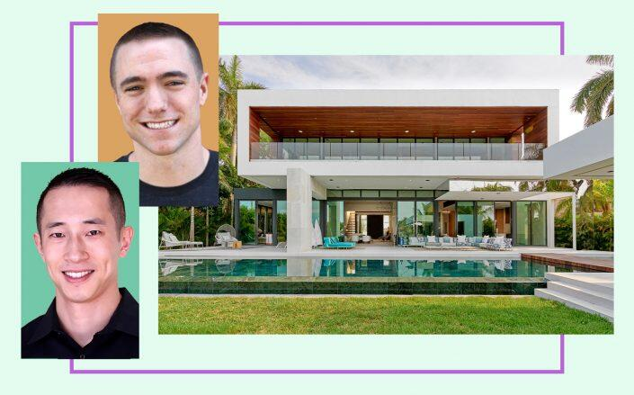 Christopher Coudron and Benjamin Ling with 135 Palm Avenue in Miami Beach (Bling, LinkedIn, Jeff Miller, One Sotheby's International Realty)