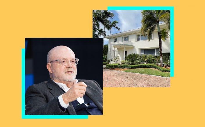Mickey Drexler and 4434 N Bay Road (Getty)