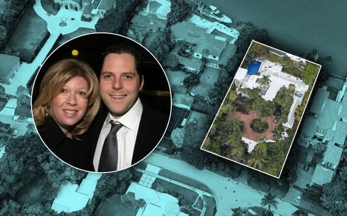 Daisy Chaplin and Charles Prince with the property at 6000 North Bay Road (Getty, Google Maps)