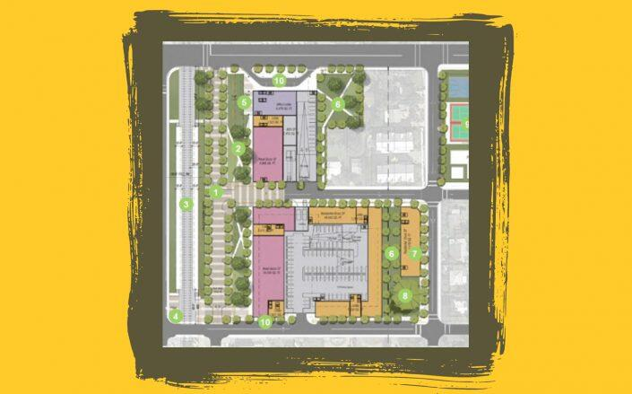 A conceptual site plan to redevelop the current Oakland Park City Hall property