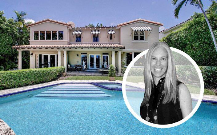 Michelle Simkins and the   waterfront Allison Island home (Getty, Estately / Compass Florida)