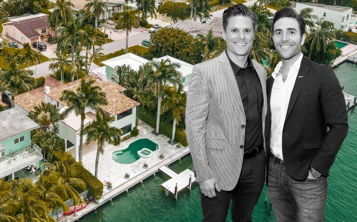 Jonathan Rollo and Joseph Gonzalez with the waterfront property (Getty, Jorge Sosa / One Sotheby's International Realty