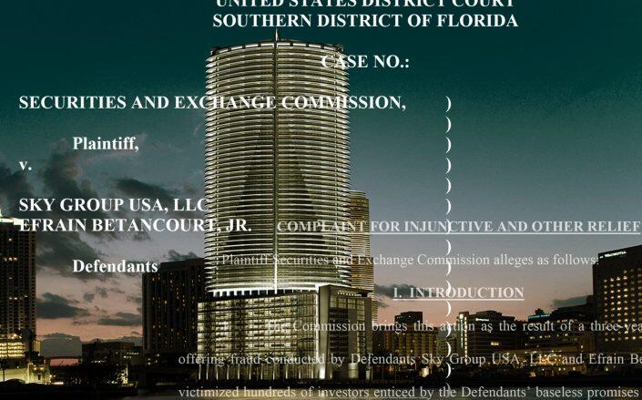 Epic Residences & Hotel with parts of the SEC complaint (Epic, United States District Court)