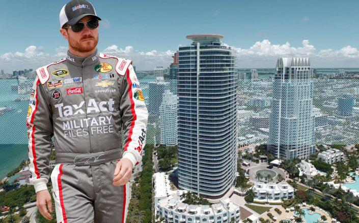 Brian Vickers with the Continuum South tower (Continuum on South Beach)