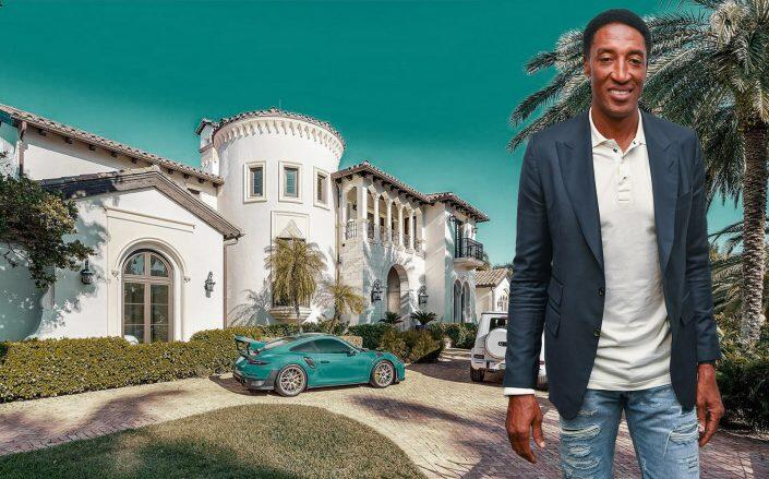 Scottie Pippen and the Fort Lauderdale house (Getty, Compass)