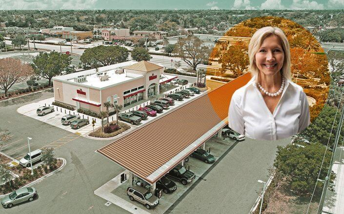 Castro Properties President Terri Keogh and one of the Wawa's (Castro, SRS Real Estate Partners)