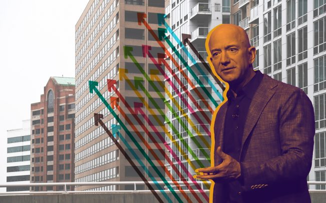Crystal City, Virginia and Amazon CEO Jeff Bezos