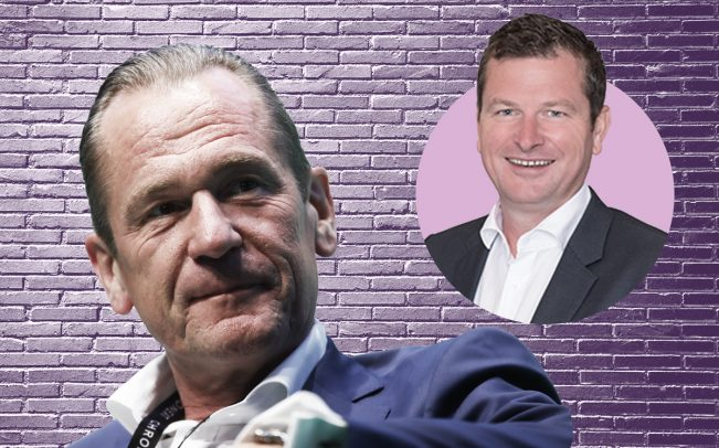 Axel Springer CEO Mathias Döpfner and Purplebricks CEO Michael Bruce (Credit: Pixabay and Getty Images)