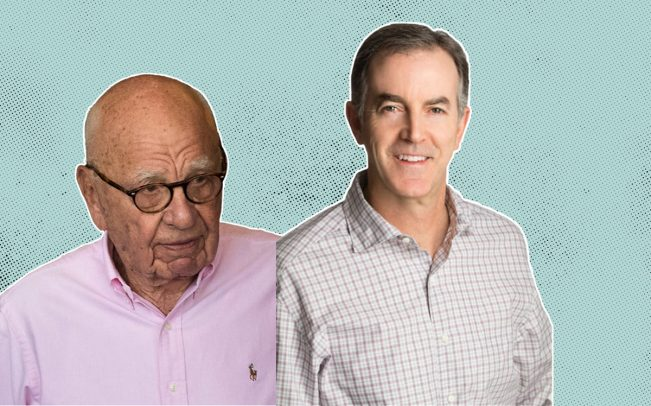 News. Corp. Chairman Rupert Murdoch and Ryan O' Hara (Credit: iStock, Getty Images and Realtor.com)