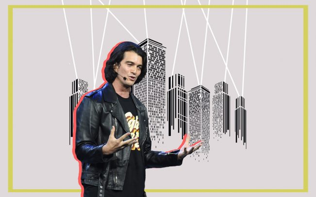 We Company CEO Adam Neumann (Credit: iStock and Getty Images)