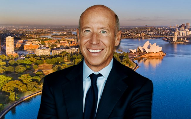 Starwood Capital Group's Barry Sternlicht and an aerial view of Sydney (Credit: iStock)