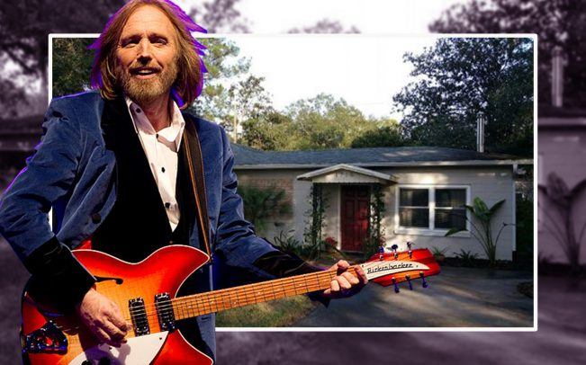 Tom Petty and his childhood home at 1715 NE 6th Terrace (Credit: Getty Images)