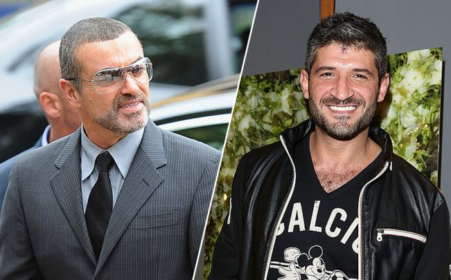 George Michael and Fadi Fawaz (Credit: Getty Images)