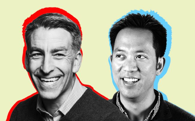 Redfin CEO Glenn Kelman and Opendoor CEO Eric Wu (Credit: Redfin and Resolute Ventures)